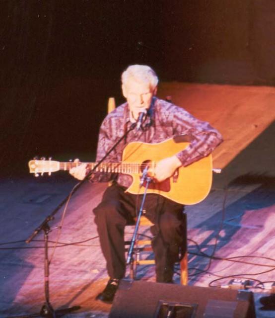Doc Watson concert March 2002 Mahaiwe Theatre Gt. Barrington, MA; photo Dave Conlin Read