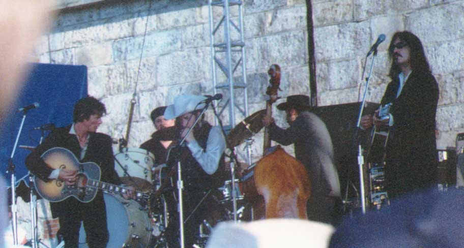 Bob Dylan at 2002 Newport Folk Festival; Dave Read photo